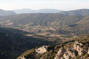 View over Cucugnan from near Queribus