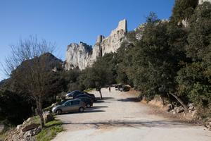 Parking at Chateau de Peyrepertuse