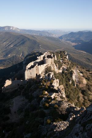 Peyrepertuse fortess in the landscape